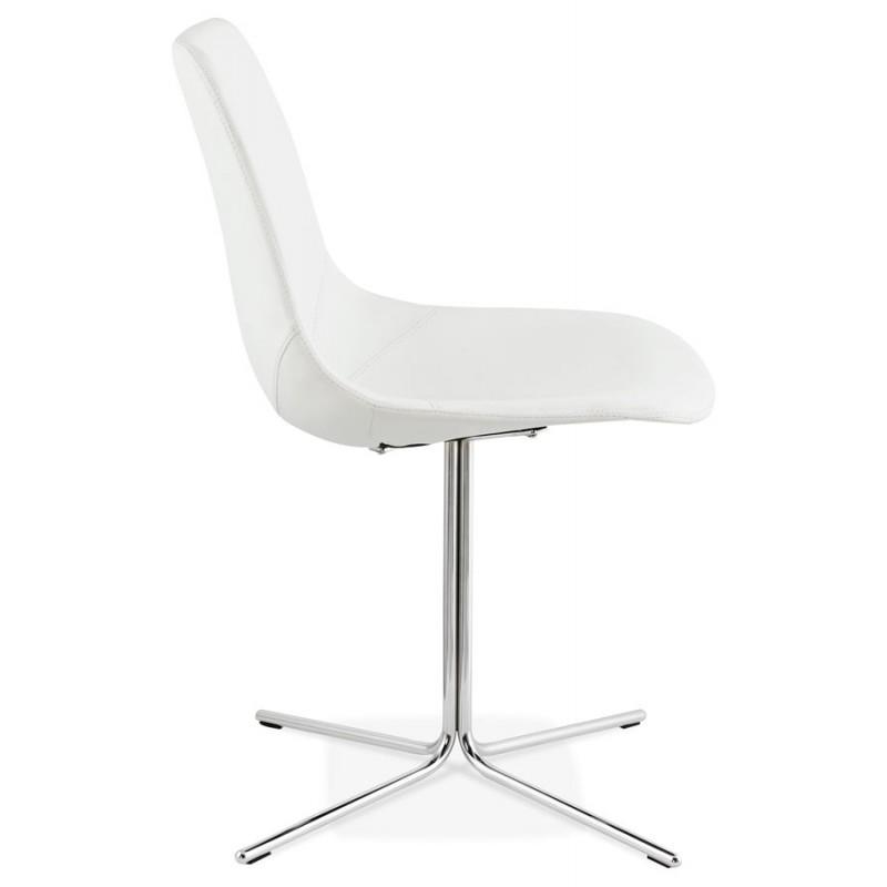 Chaise design OFEN en polyuréthane et métal chromé (blanc, chrome) - image 29026