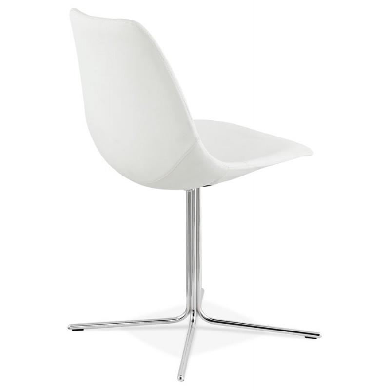 Chaise design OFEN en polyuréthane et métal chromé (blanc, chrome) - image 29027