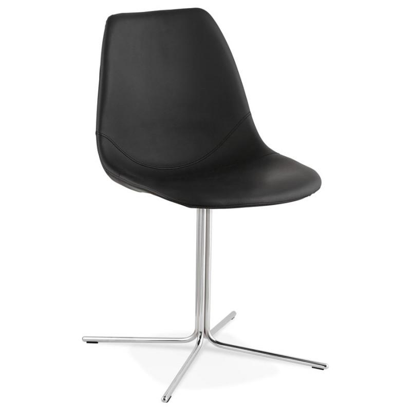 Chaise design OFEN en polyuréthane et métal chromé (noir, chrome) - image 29036