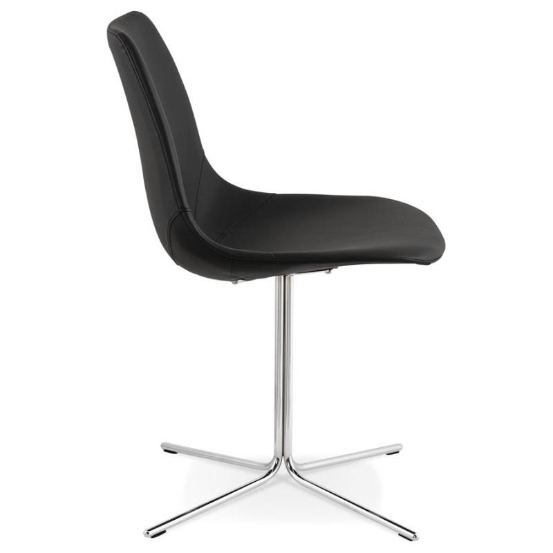 Chaise design OFEN en polyuréthane et métal chromé (noir, chrome) - image 29038