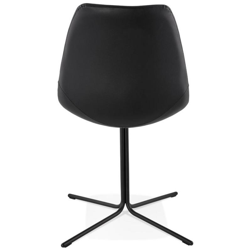 chaise design ofen en polyur thane et m tal peint noir. Black Bedroom Furniture Sets. Home Design Ideas