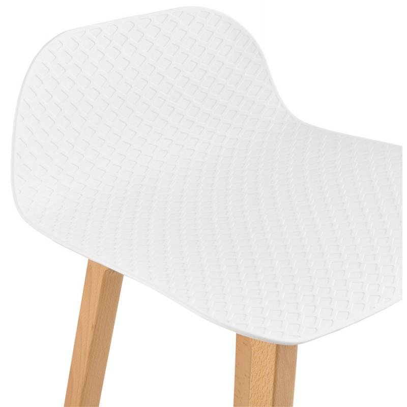 Tabouret de bar chaise de bar mi-hauteur scandinave SCARLETT MINI (blanc) - image 29067