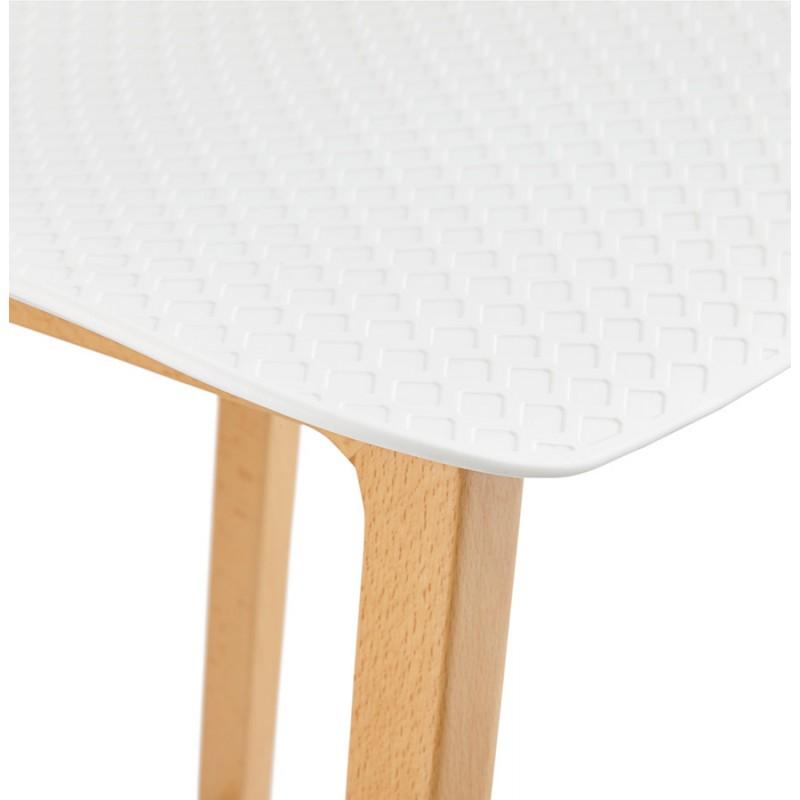 Tabouret de bar chaise de bar mi-hauteur scandinave SCARLETT MINI (blanc) - image 29069