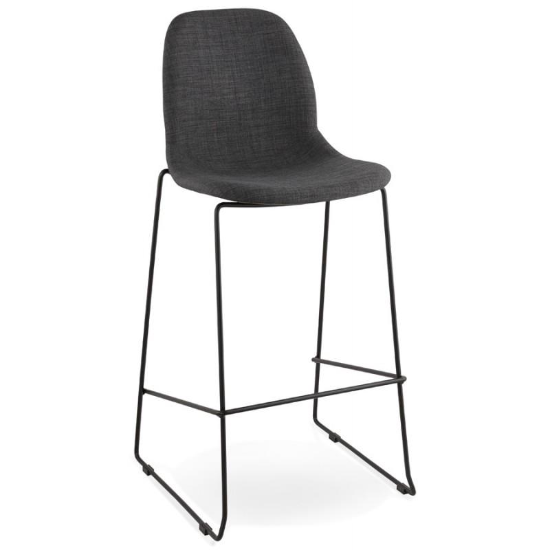 Tabouret de bar chaise de bar design empilable DOLY en tissu (gris foncé) - image 29075