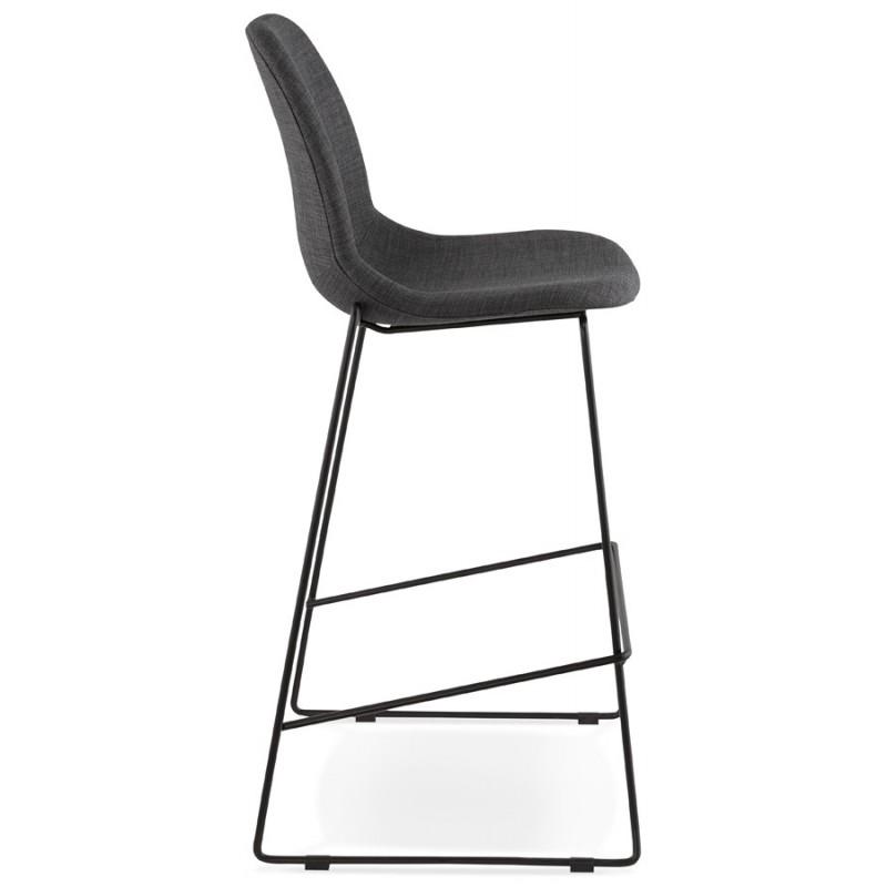 Tabouret de bar chaise de bar design empilable DOLY en tissu (gris foncé) - image 29077