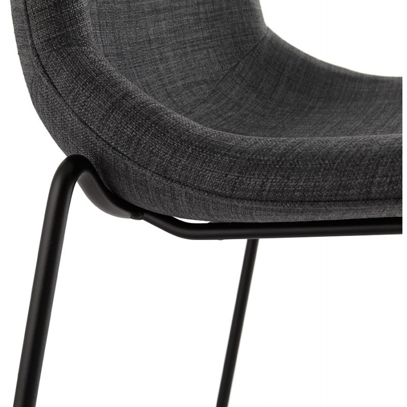 Tabouret de bar chaise de bar design empilable DOLY en tissu (gris foncé) - image 29082