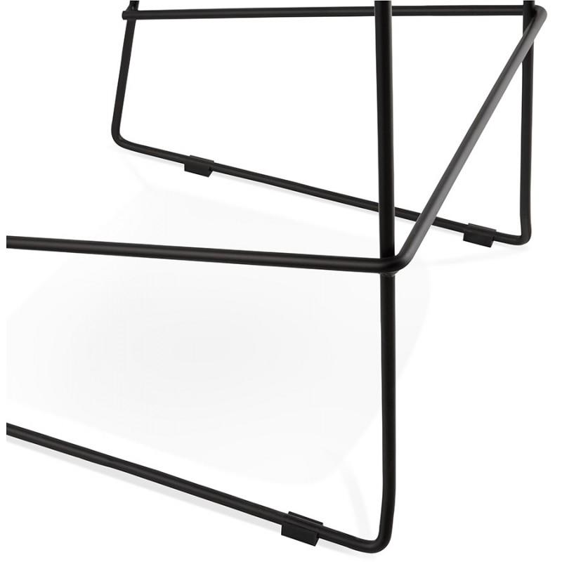 Tabouret de bar chaise de bar design empilable DOLY en tissu (gris foncé) - image 29085