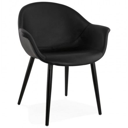 Chair design chair and ORLY modern polyurethane (black)