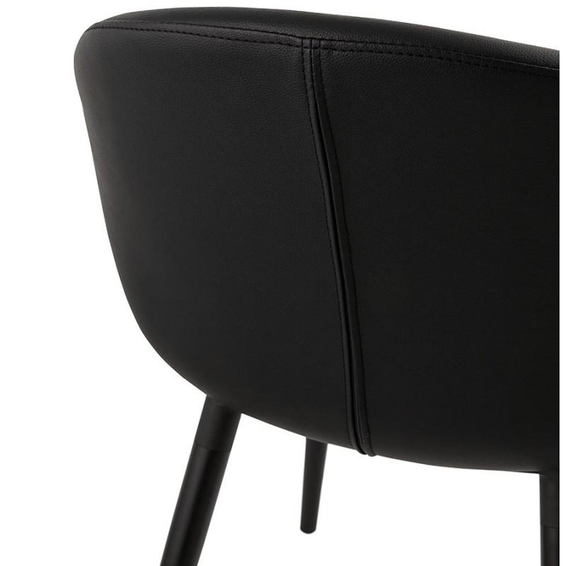 Fauteuil chaise design et moderne orly noir - Fauteuil moderne design ...