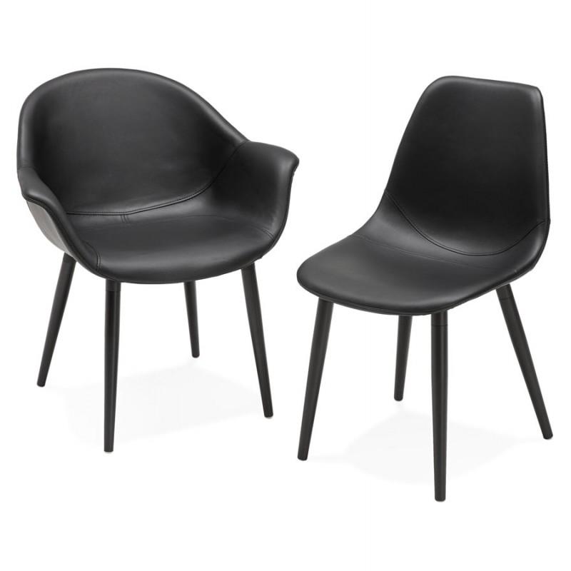Fauteuil chaise design et moderne ORLY (noir) - image 29103