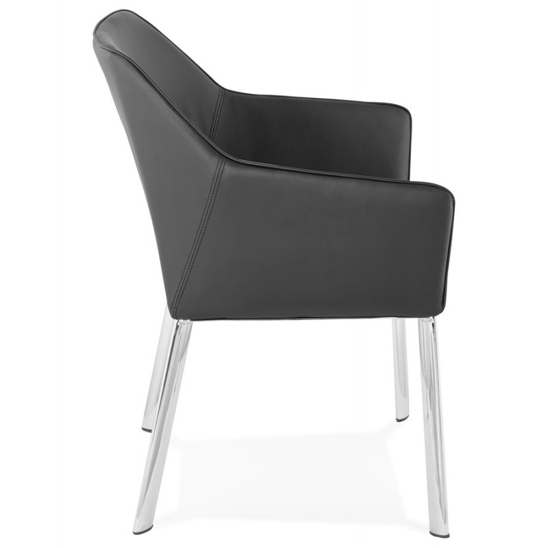 Fauteuil chaise design et rétro MATEO (noir) - image 29107