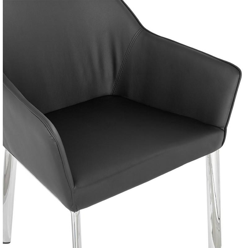Fauteuil chaise design et rétro MATEO (noir) - image 29110