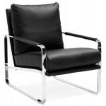 De diseño reclinable y retro JULIA (negro)