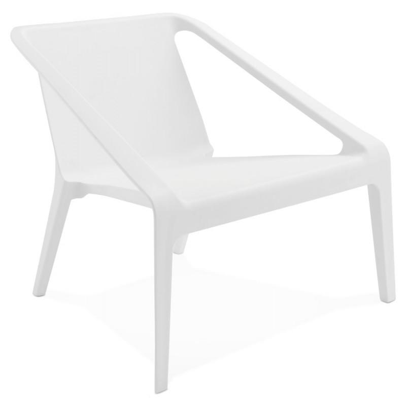 Fauteuil de jardin relax design SUNY (blanc) - image 29147