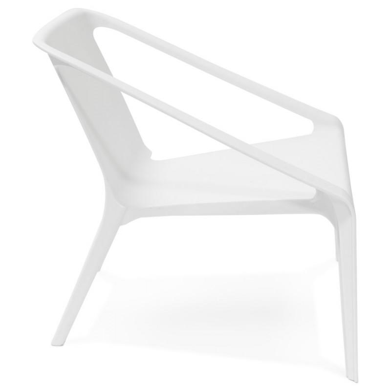 Fauteuil de jardin relax design SUNY (blanc) - image 29149