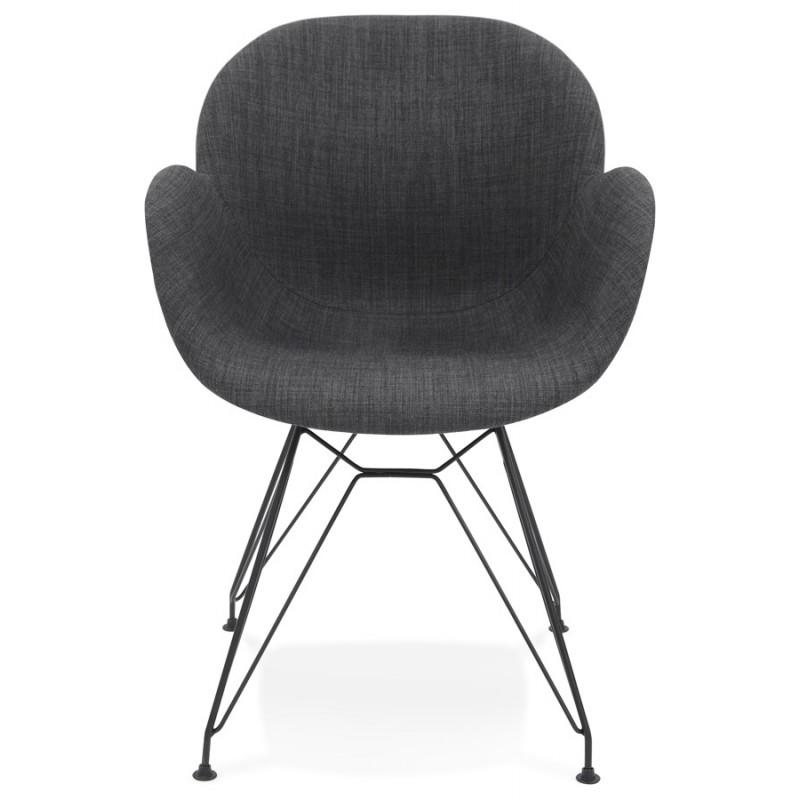 Chaise design style industriel tom en tissu pied m tal for Chaise design industriel