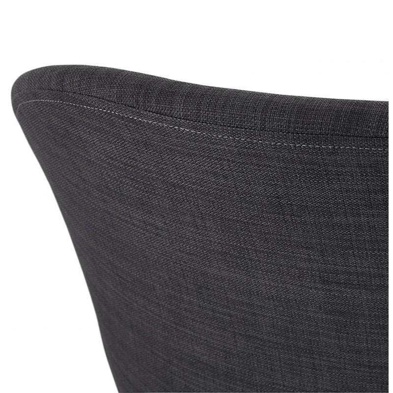 Chaise design style industriel TOM en tissu pied métal noir (gris foncé) - image 29166