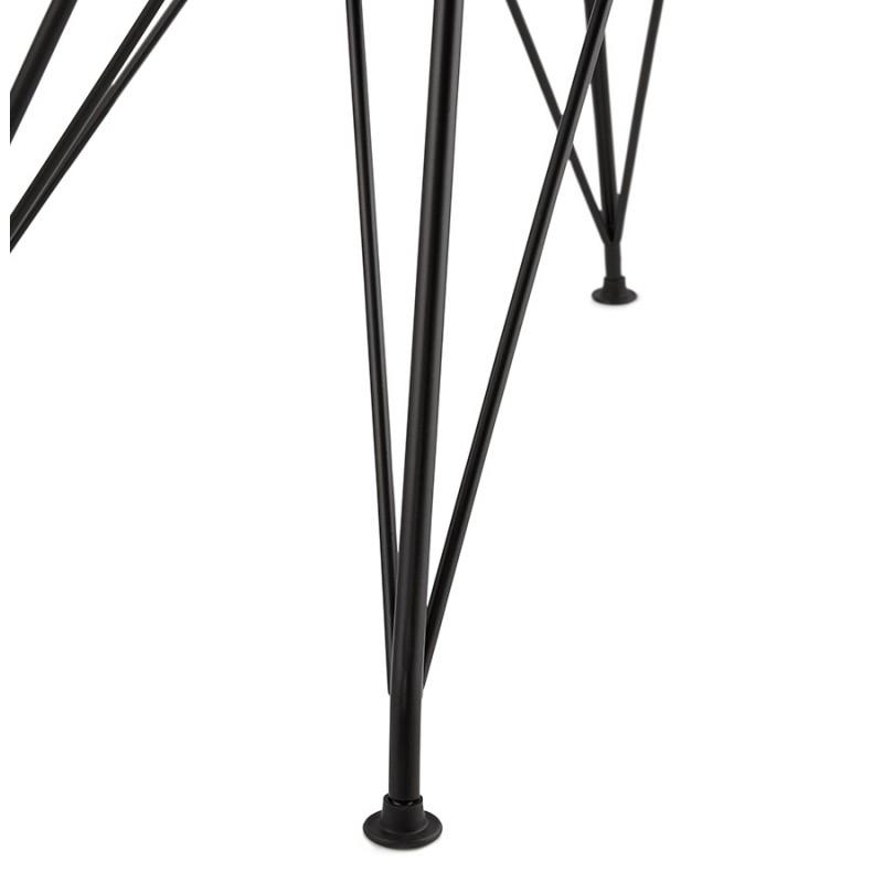 Chaise design style industriel TOM en tissu pied métal noir (gris foncé) - image 29168