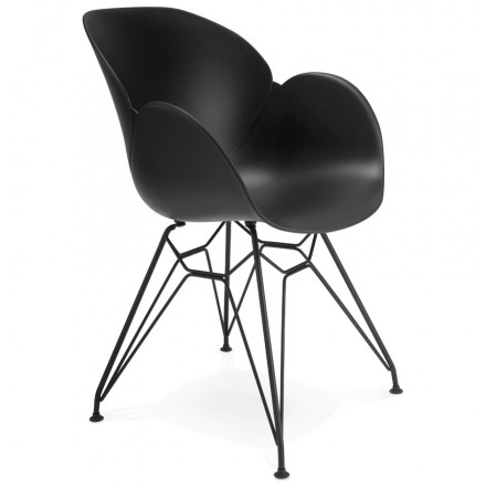 Design chair industrial style TOM polypropylene (black)