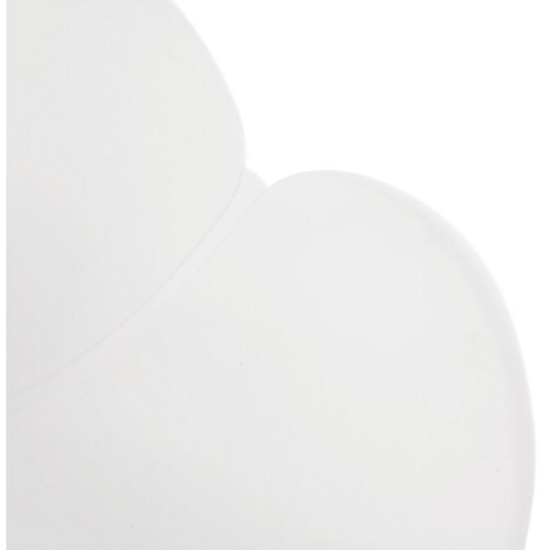 Chaise design style industriel TOM en polypropylène pied métal noir (blanc) - image 29189
