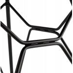 Chaise design style industriel TOM en polypropylène pied métal noir (blanc)