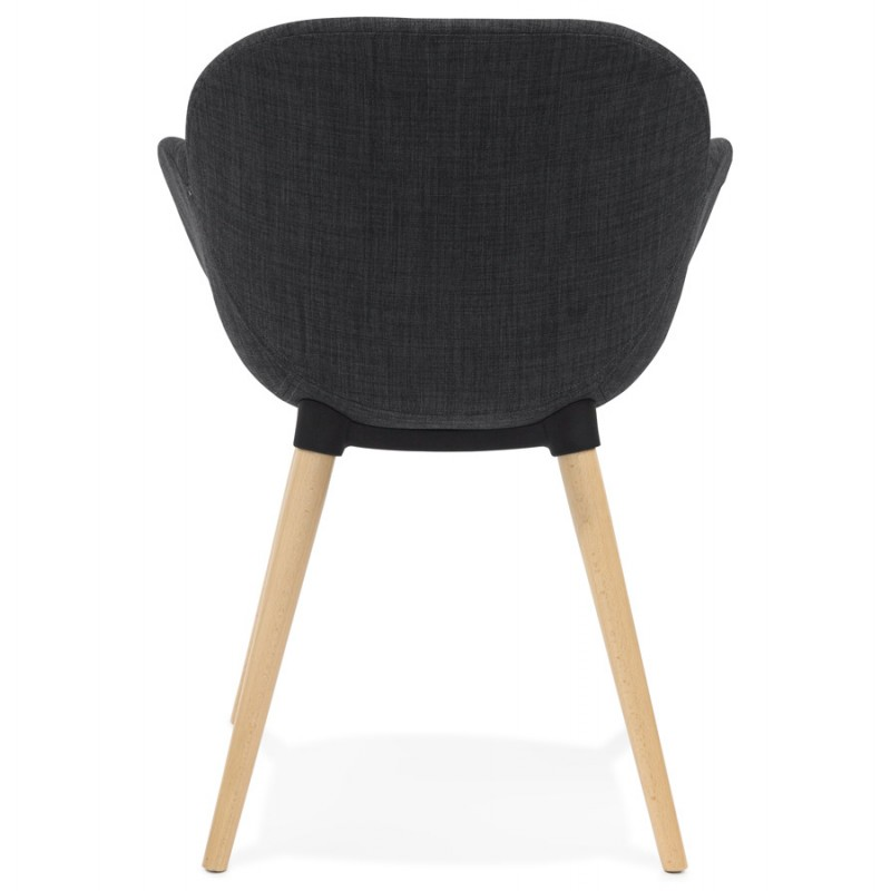 Chaise design style scandinave LENA en tissu (gris foncé) - image 29201
