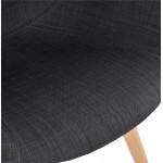 Chaise design style scandinave LENA en tissu (gris foncé)