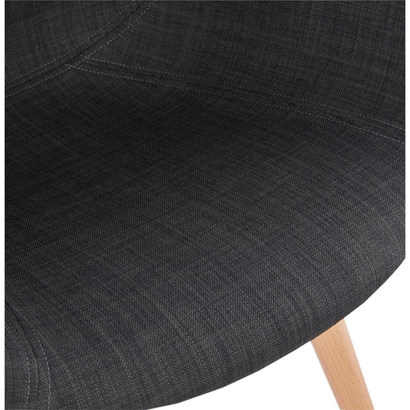 Chaise design style scandinave LENA en tissu (gris foncé) - image 29203