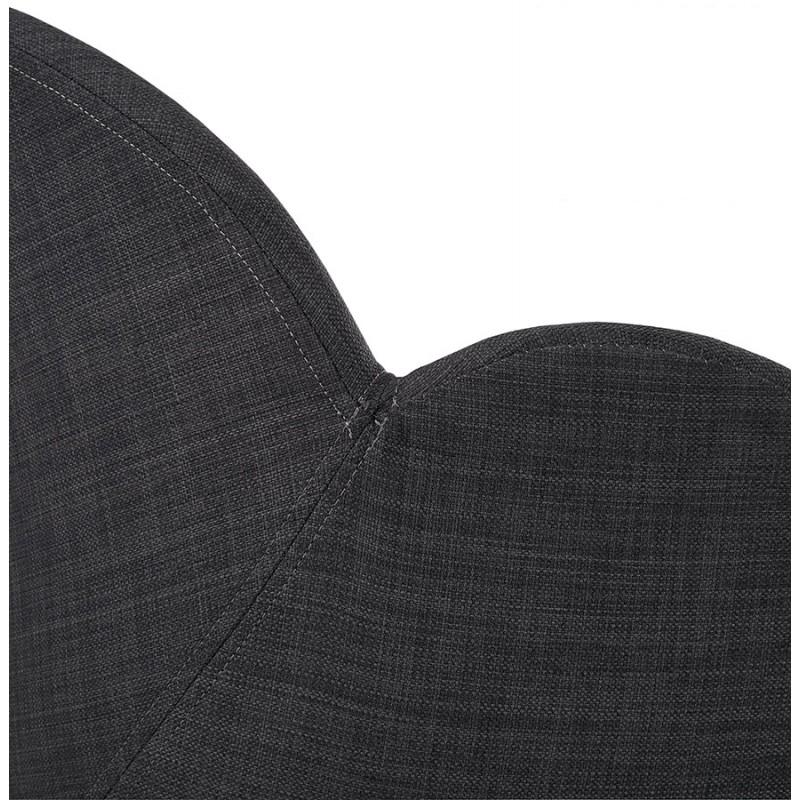 Chaise design style scandinave LENA en tissu (gris foncé) - image 29206