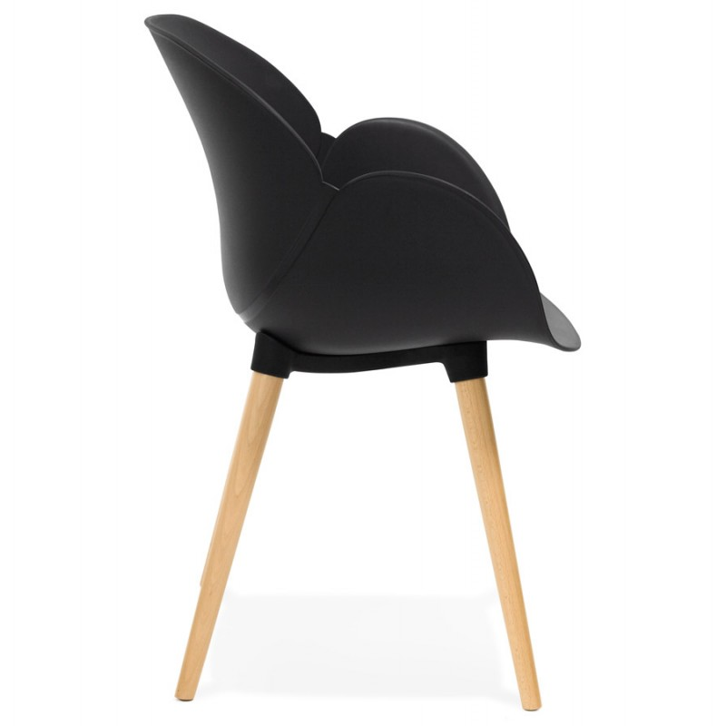 Diseño de polipropileno de silla estilo escandinavo LENA (negro) - image 29214