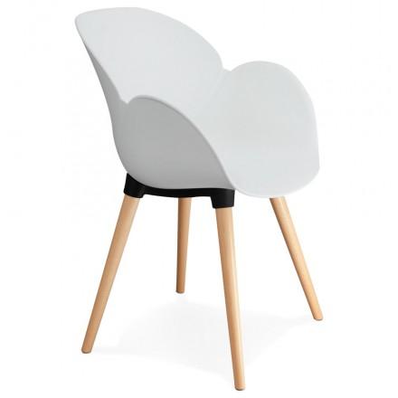 Diseño de polipropileno de silla estilo escandinavo LENA (blanco)