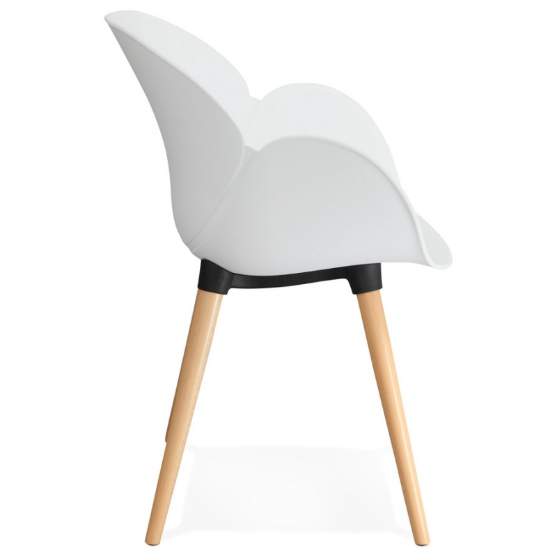 Design chair style Scandinavian LENA polypropylene (white) - image 29226