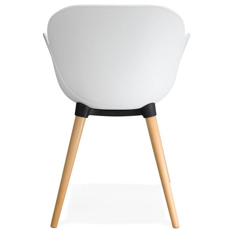 chaise design style scandinave lena en polypropyl ne blanc. Black Bedroom Furniture Sets. Home Design Ideas