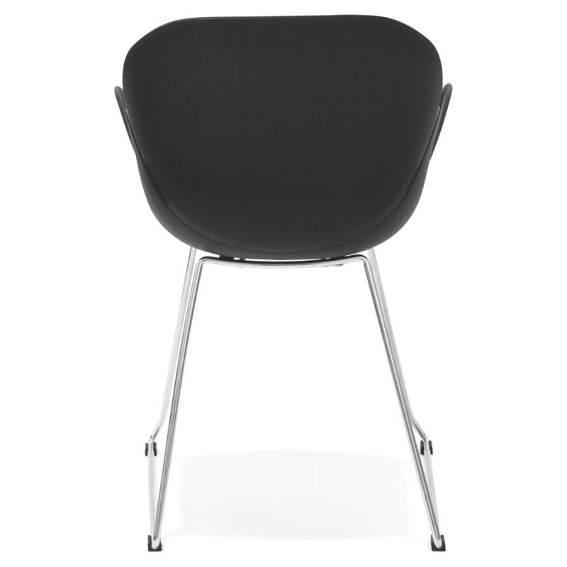 Chaise design pied effilé ADELE en polypropylène (noir) - image 29252