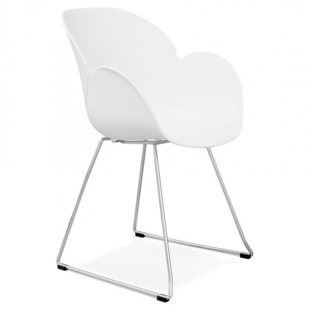 Design chair foot tapered ADELE polypropylene (white)