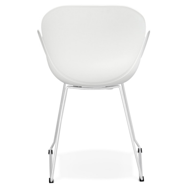Chaise design pied effilé ADELE en polypropylène (blanc) - image 29265
