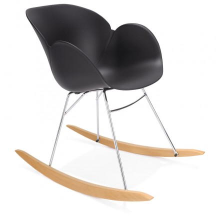 Design EDEN Black Polypropylene Chair - Fauteuil rocking chair design