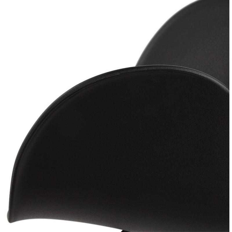 Fauteuil à bascule design EDEN en polypropylène (noir) - image 29296