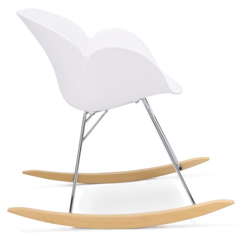 Rocking design EDEN (white) polypropylene Chair - image 29305