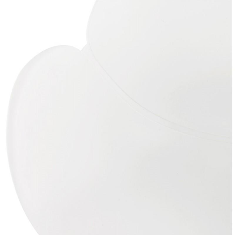 Fauteuil à bascule design EDEN en polypropylène (blanc) - image 29308