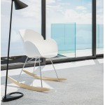 Design EDEN (weiß) Polypropylen Stuhl Schaukeln
