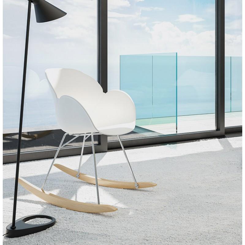Rocking design EDEN (white) polypropylene Chair - image 29317