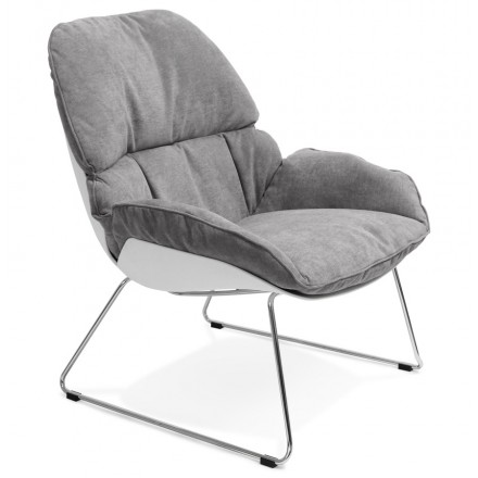 Design lounge LILOU (light gray) fabric Chair
