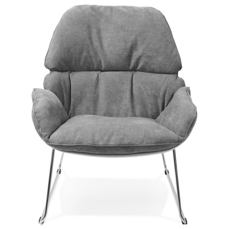 fauteuil lounge design lilou en tissu gris clair. Black Bedroom Furniture Sets. Home Design Ideas