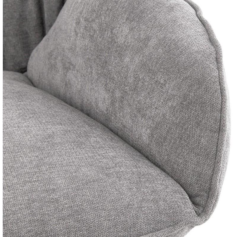 Fauteuil lounge design LILOU en tissu (gris clair) - image 29324