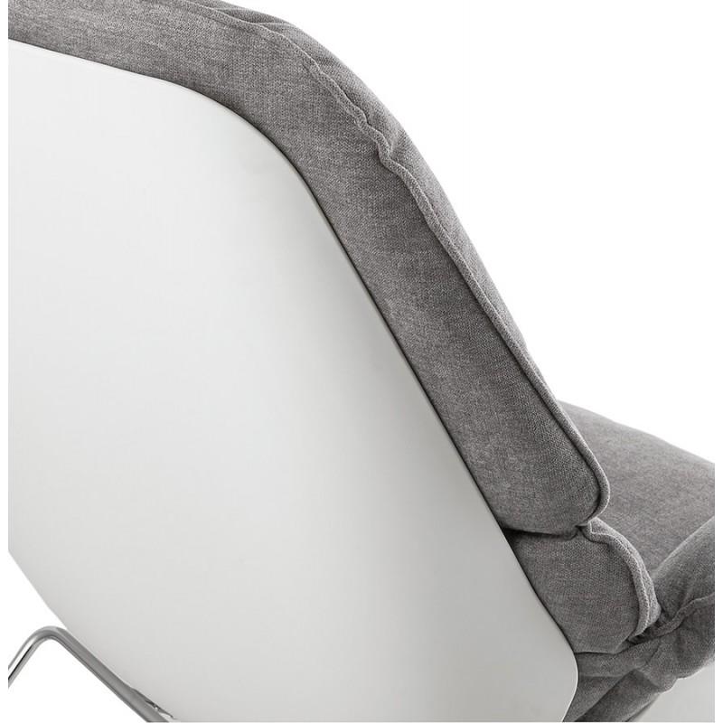 Fauteuil lounge design LILOU en tissu (gris clair) - image 29326