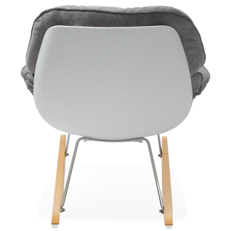 Fauteuil lounge à bascule JADE en tissu (gris clair) - image 29335