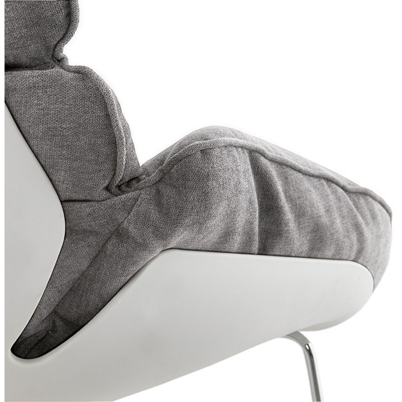 Lounge chair rocking JADE in fabric (light gray) - image 29338