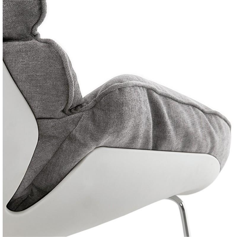 Fauteuil lounge à bascule JADE en tissu (gris clair) - image 29338