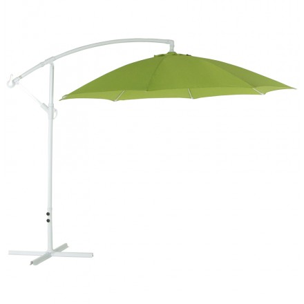 Octagonal deported parasol ALICE in polyester and aluminium (green)